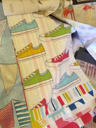 可愛い子供室用のスペインプリントカーテン生地