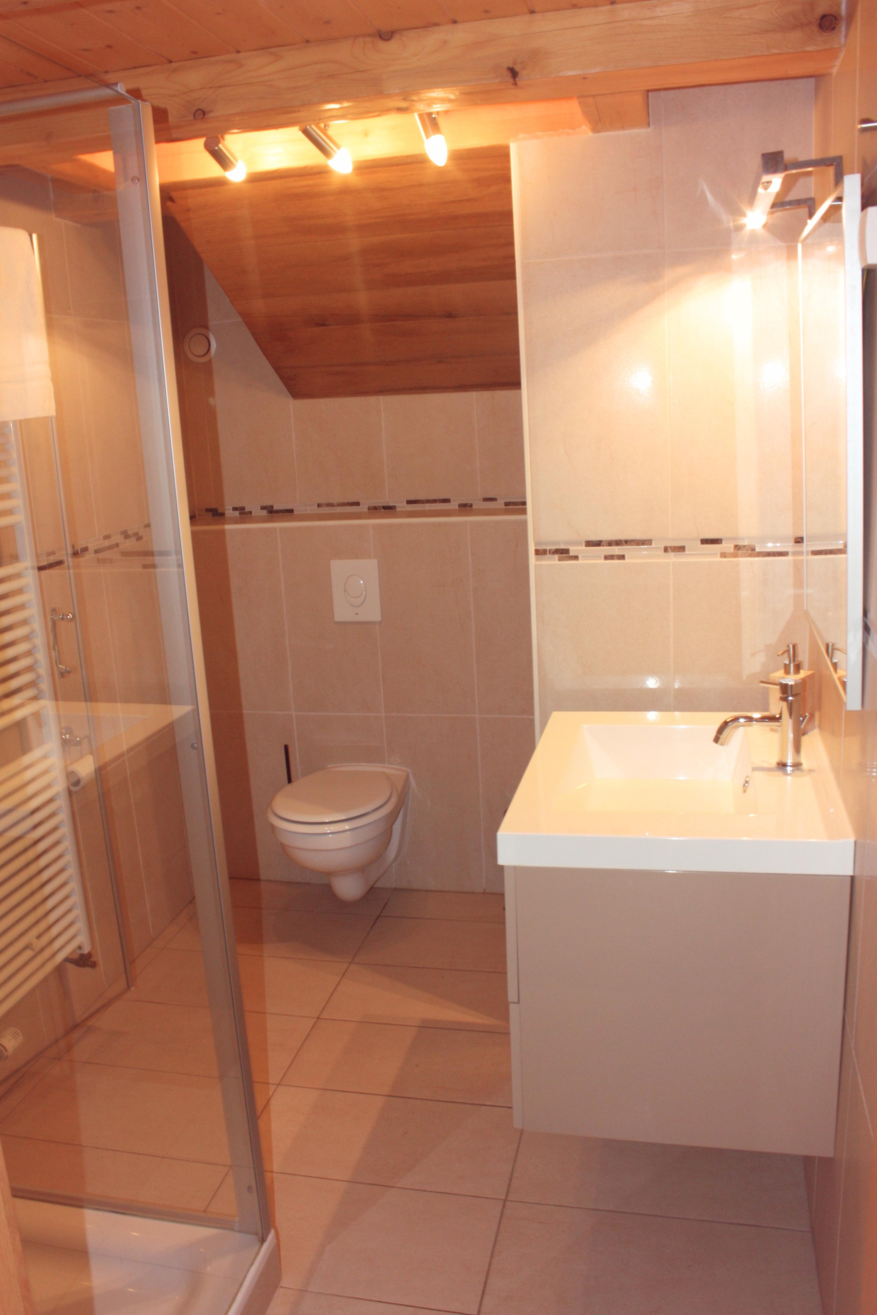 La salle de bain de la chambre B