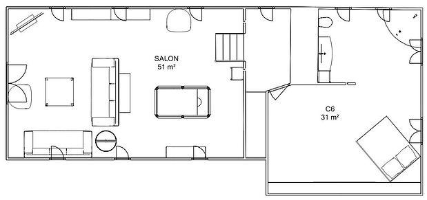 Plan du Hoeflerhoft - Premier Etage