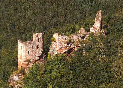 Les ruines du Wasigenstein à Wengelsbach