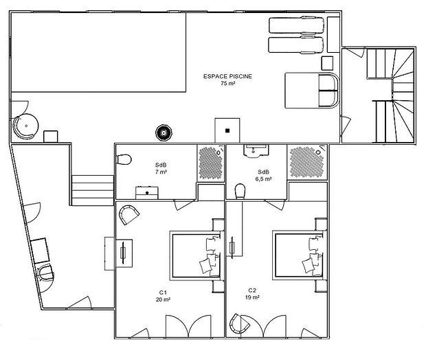 Plan du Hoeflerhoft - Rez-de-Jardin