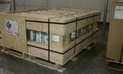 UN1046, Helium compressed, aluminum cylinders, cylinder, hazmat, hazardous materials, dangerous goods, overpack, crate, crating, crates, wood, box, wood crate, wooden box, plywood box, packaging