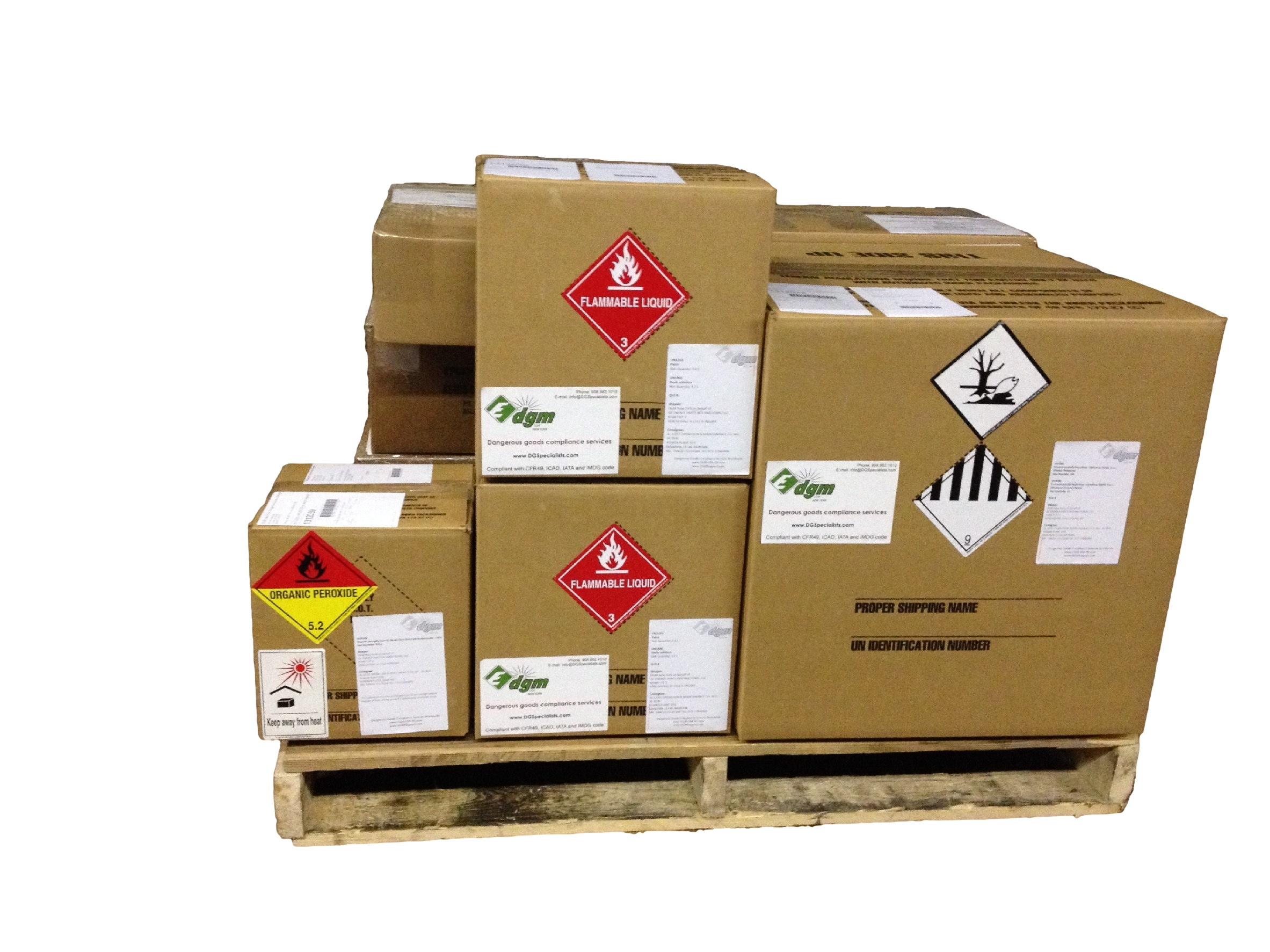 Class 3 flammable liquid hazmat packaging, environmentally hazardous liquid nos, class 9, organic pe
