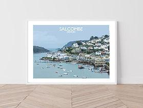 Salcombe Illustration by Salty Seas