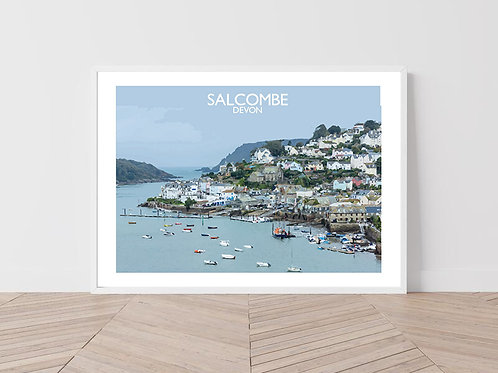 Salcombe in Devon, England - Signed Travel Print by David at Salty Seas