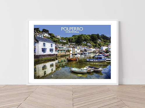 Polperro in Cornwall, England - Signed Travel Print by David at Salty Seas