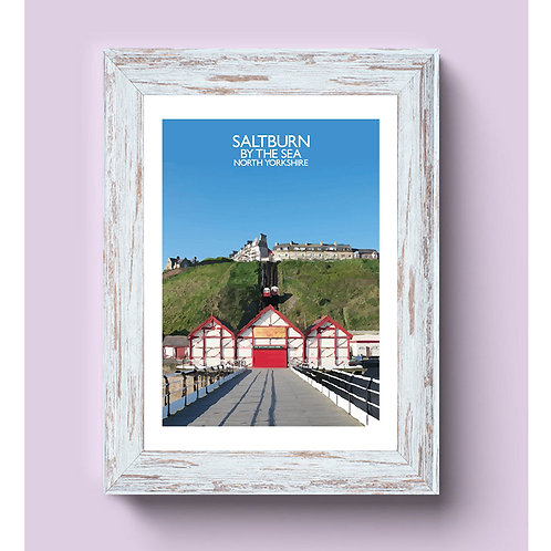 Saltburn By The Sea, England - Signed Travel Print by David at Salty Seas