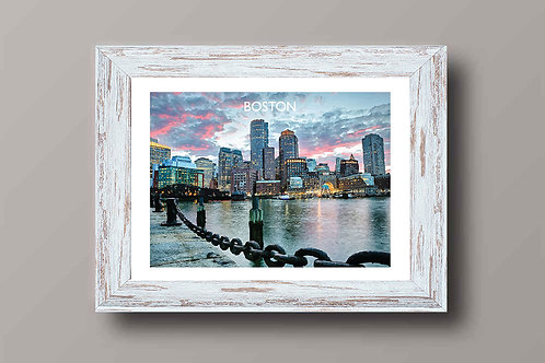 Boston, USA - Signed Travel Print by David at Salty Seas