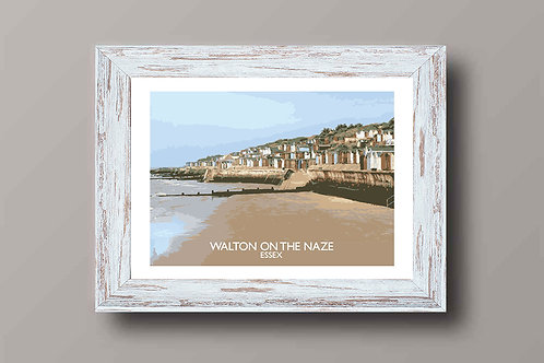 Walton On The Naze, Essex, England - Signed Travel Print by David at Salty Seas