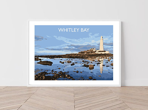 Whitley Bay, England - Signed Travel Print by David at Salty Seas