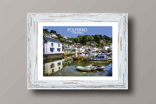 Polperro in Cornwall, England - Signed Travel Print by David at Salty Seas