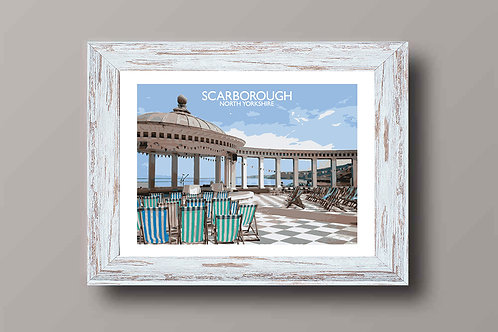 Scarborough, North Yorkshire - Signed Travel Print by David at Salty Seas
