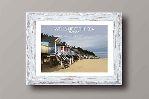 Wells in Norfolk, England - Signed Travel Print by David at Salty Seas