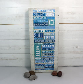 Seaside Wooden Plaques