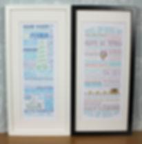 Salty Seas, Shipping Forecast, Framed Prints, Seaside, Coast, Coastal, Devon, Cornwall, Dorset, St Ives, Dartmouth, Seaside, Beach Huts, Illustrations, Map Hearts, Framed Artwork, Holiday