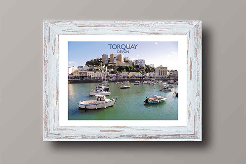 Torquay in Devon, England - Signed Travel Print by David at Salty Seas