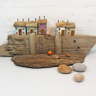 Driftwood Houses by Salty Seas