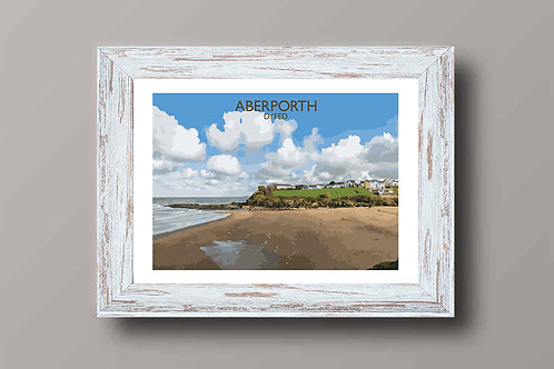 Aberporth, Dyfed in Wales - Signed Travel Print by David at Salty Seas