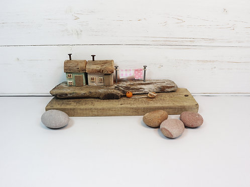 Driftwood Houses - Handmade and Original Sculpture by David from Salty Seas no46