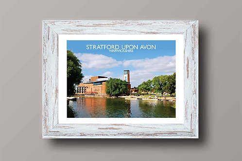 Stratford Upon Avon, England - Signed Travel Print by David at Salty Seas