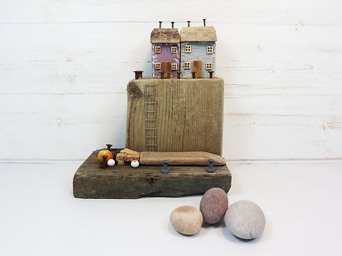 Driftwood Houses - Handmade and Original Sculpture by David from Salty Seas no11