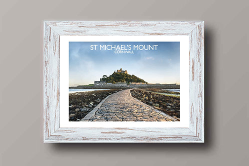 St Michaels Mount, England - Signed Travel Print by David at Salty Seas