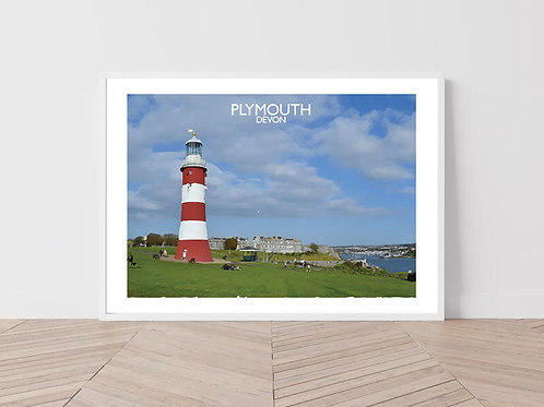 Plymouth in Devon, England - Signed travel Print by David at Salty Seas