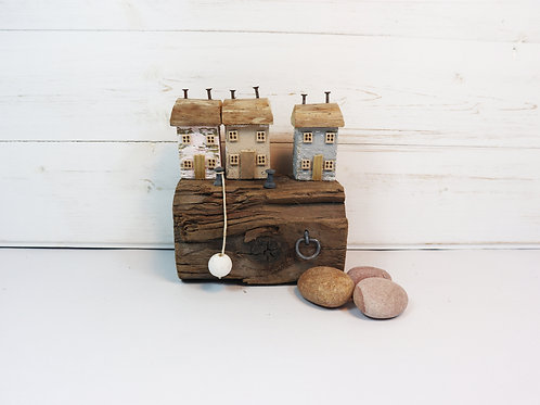 Driftwood Houses - Handmade and Original Sculpture by David from Salty Seas no42