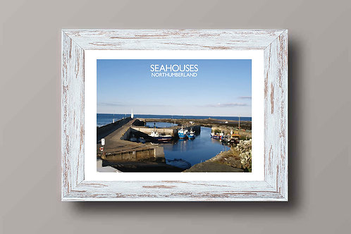Seahouses, Northumberland, England - Signed Travel Print by David at Salty Seas