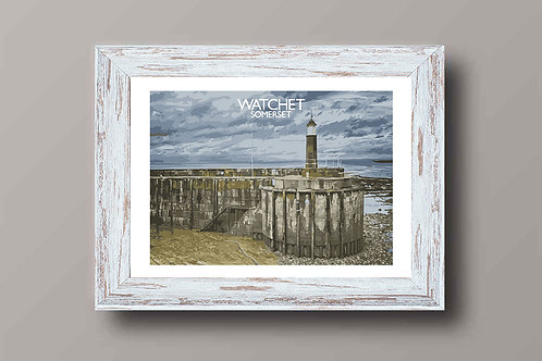 Watchet in Somerset, England - Signed Travel Print by David at Salty Seas