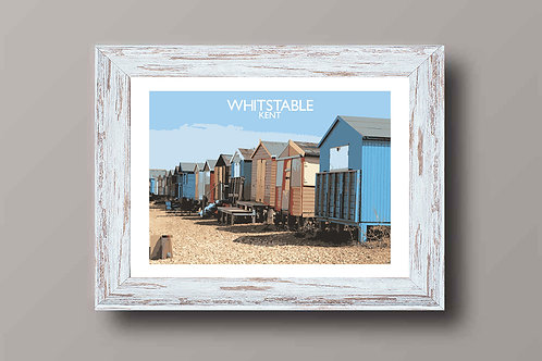 Whitstable, Kent, England - Signed Travel Print by David at Salty Seas