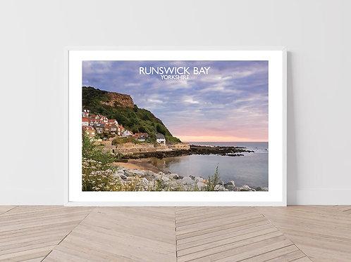Runswick Bay, Yorkshire, England - Signed Travel Print by David at Salty Seas