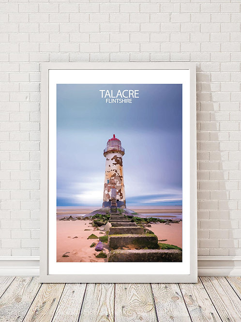 Talacre in Flintshire, Wales - Signed Travel Print by David at Salty Seas
