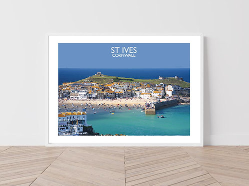 St Ives in Cornwall, England - Signed Travel Print by David at Salty Seas
