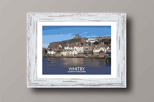 Whitby in North Yorkshire, England - Signed Travel Print by David at Salty Seas