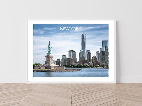 New York, USA - Signed Travel Print by David at Salty Seas