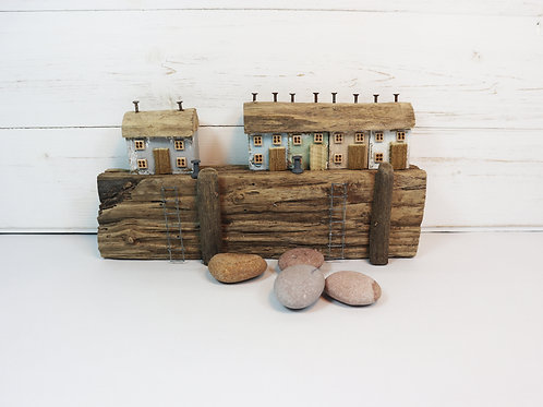 Driftwood Houses - Handmade and Original Sculpture by David from Salty Seas no47
