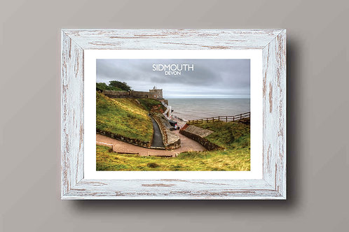 Sidmouth in Devon, England - Signed Travel Print by David at Salty Seas
