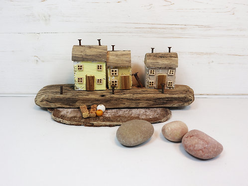 Driftwood Houses - Handmade and Original Sculpture by David from Salty Seas no4