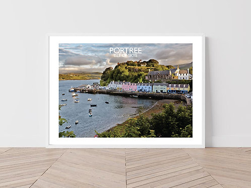 Portree, Isle of Skye, Scotland - Signed Travel Print by David at Salty Seas