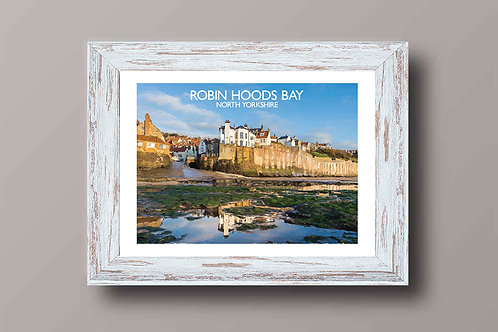 Robin Hoods Bay in North Yorkshire - Signed Travel Print by David at Salty Seas