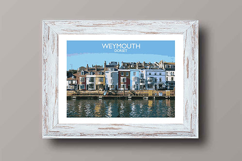 Weymouth in Dorset, England - Signed Travel Print by David at Salty Seas