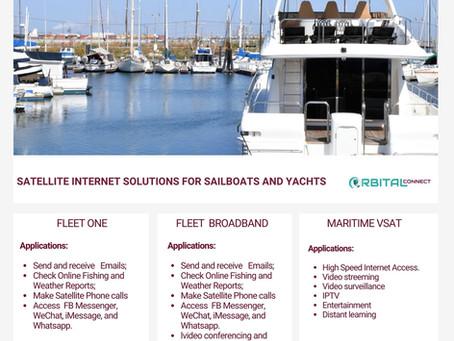 Fleet One, Fleet Broadband and Maritime VSAT plans from Orbital Connect