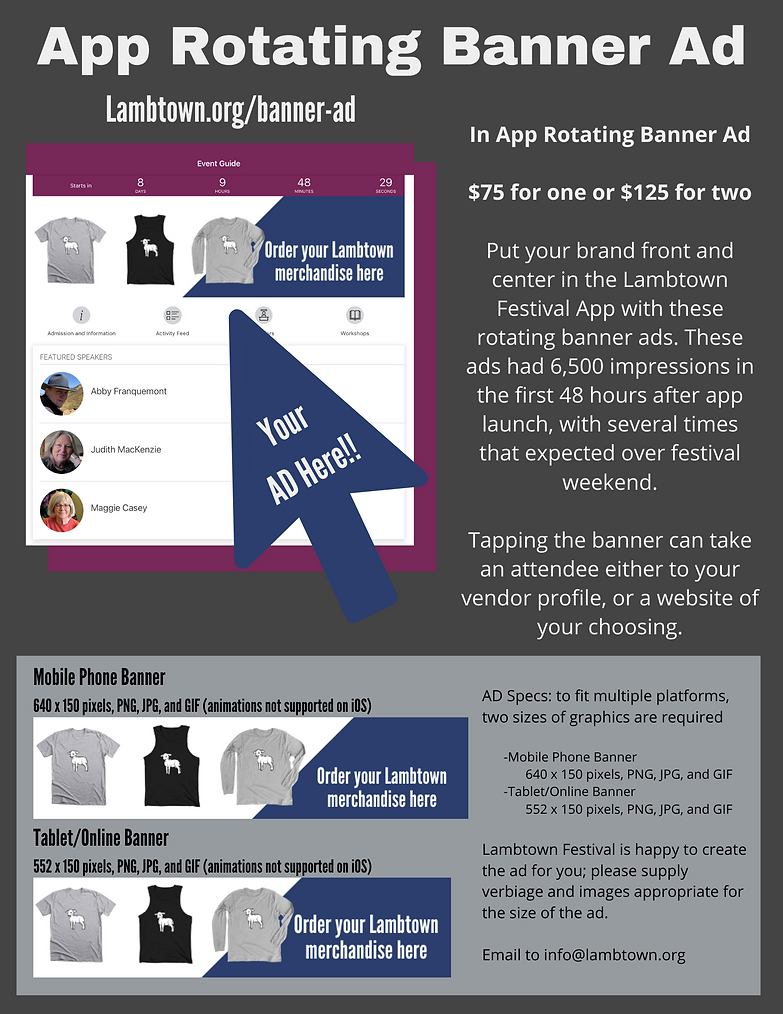 Lamtown Festival App Rotating Banner Ad-