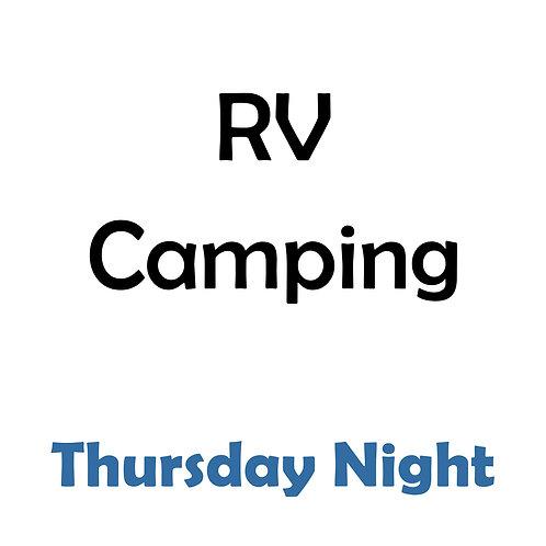 RV Camping - Thursday Night
