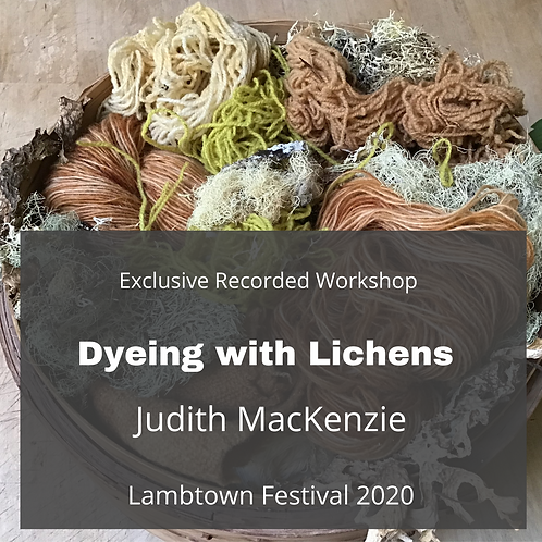Dyeing with Lichens - Recorded Workshop