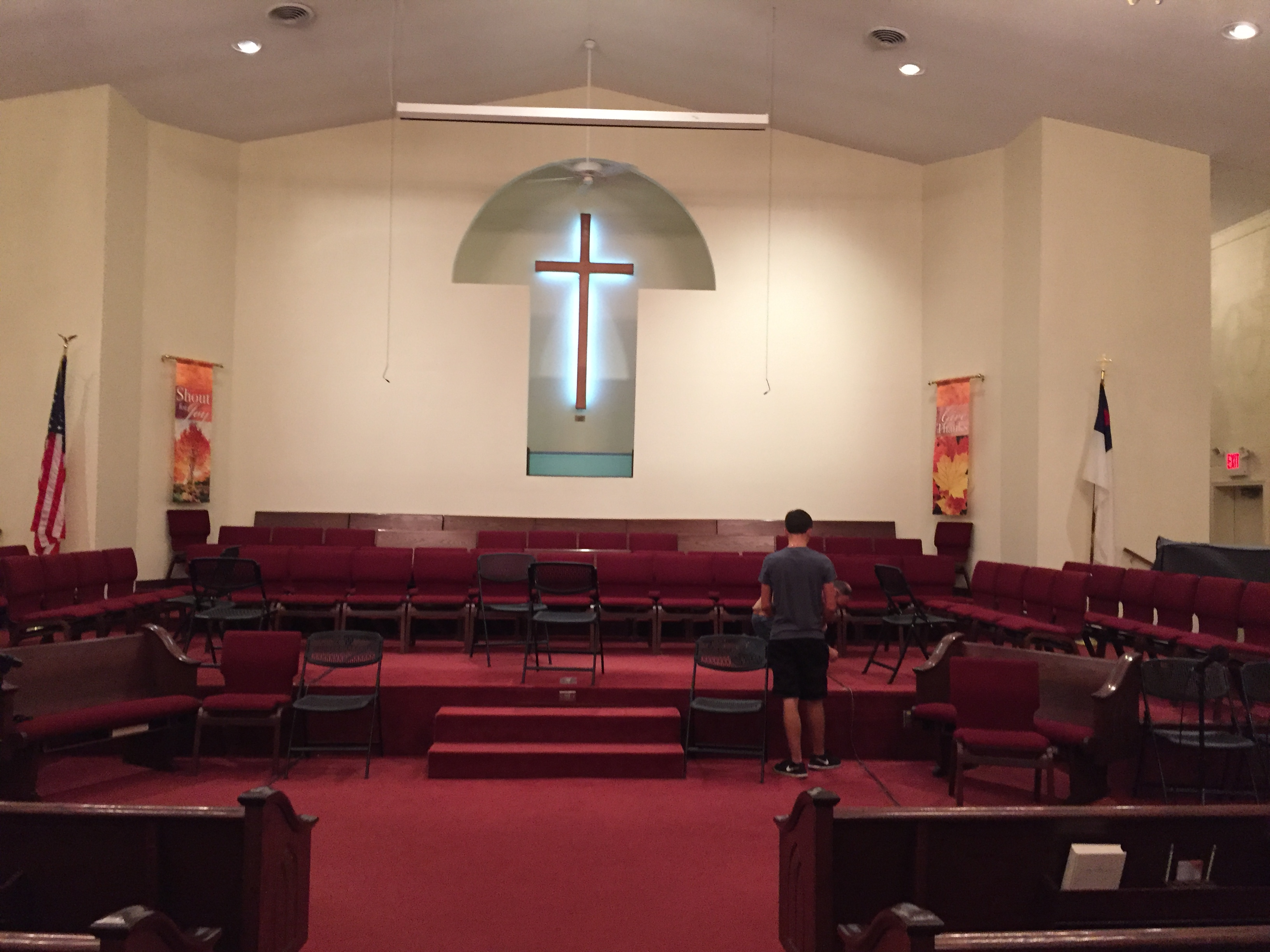 adding chairs to our choir loft