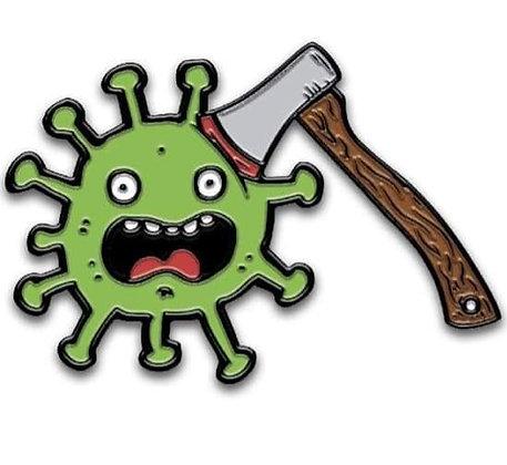 Axe the Coronavirus Lapel Pin