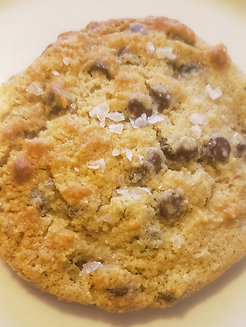 Salted Tahini Butter Chocolate Chip Cookie
