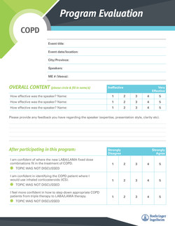 COPD Program Evaluation Form